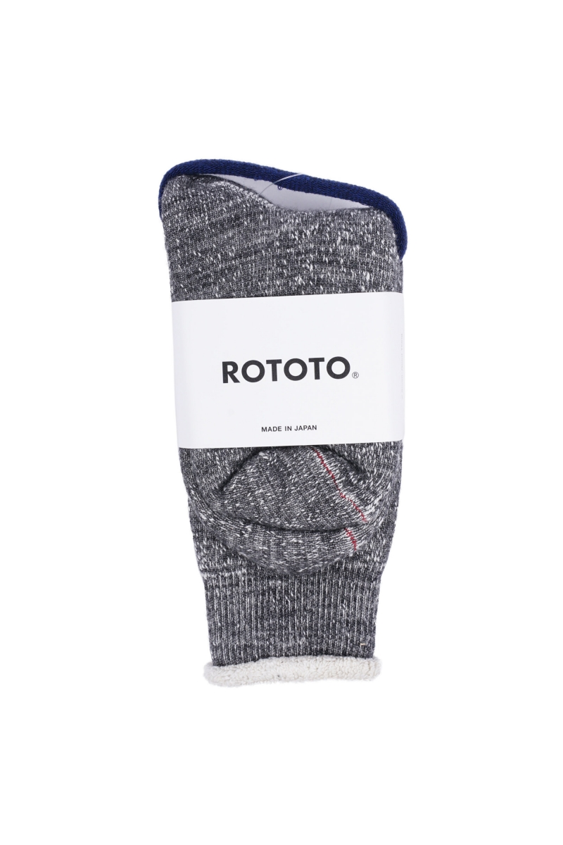 DOUBLE FACE SOCKS | CHARCOAL