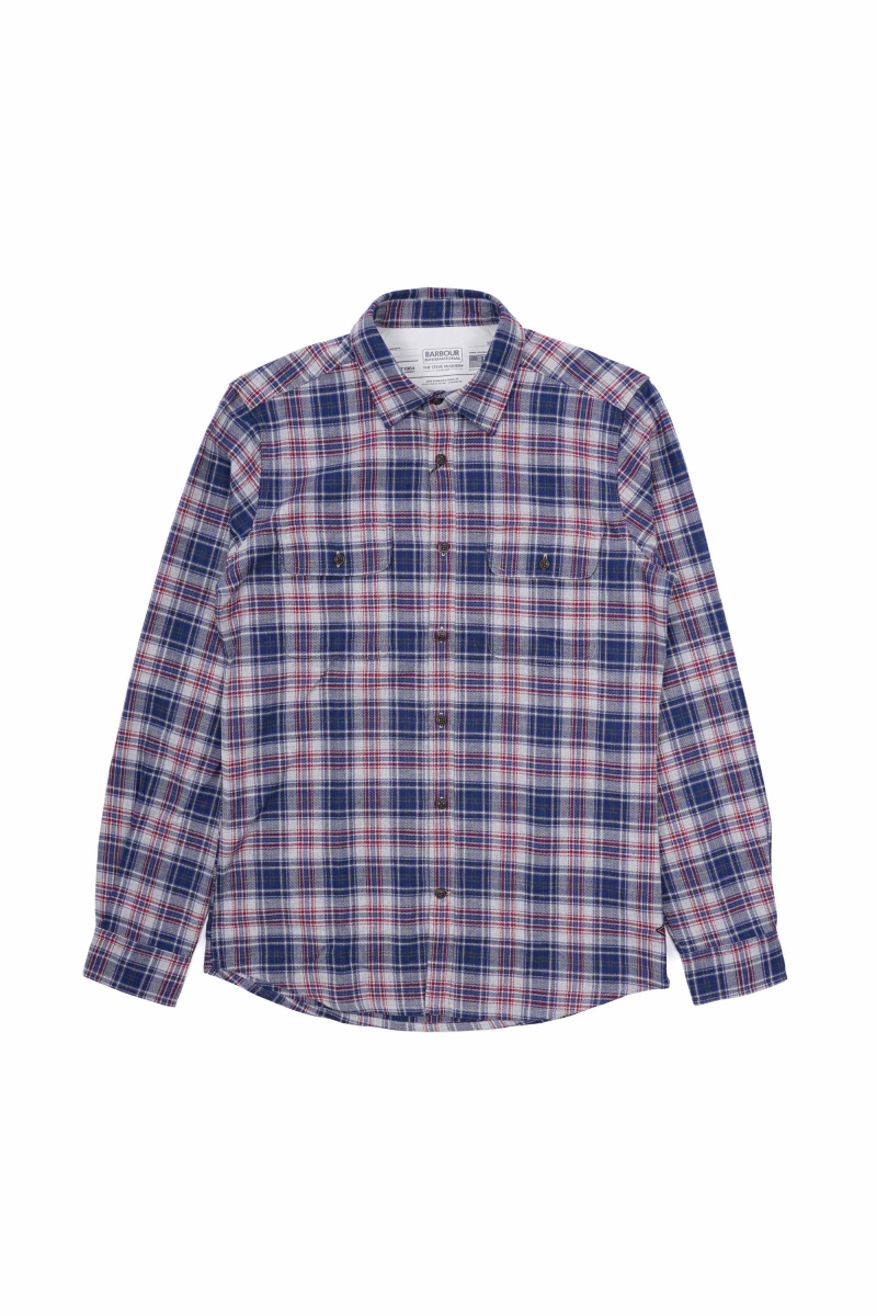 HENRI CHECK SHIRT | NAVY