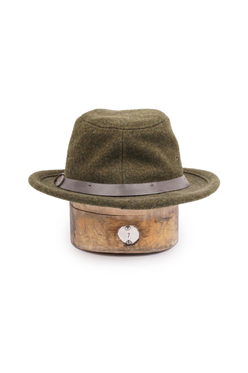 WOOL PACKER HAT | FOREST GREEN