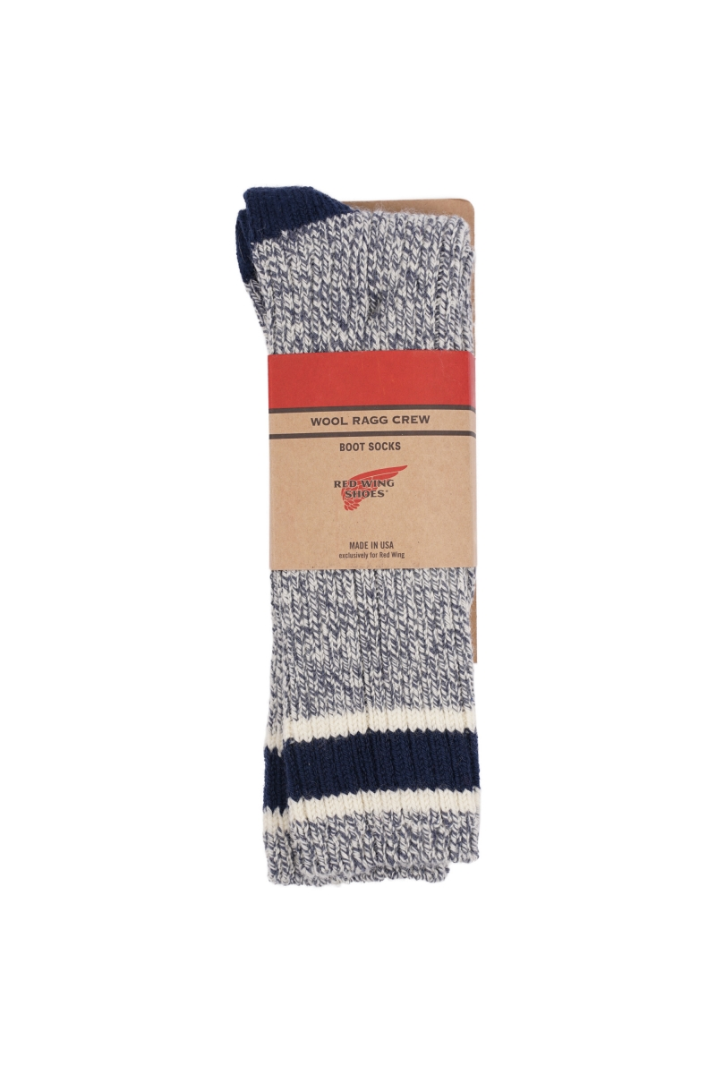 STRIPED WOOL SOCKS | 97330 SLATE